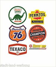 555 Set Texaco Aufkleber Sticker Gasoline Pennzoil Champion Oldtimer Youngtimer