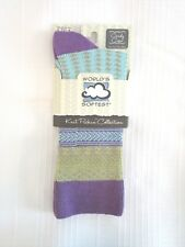 World's Softest Socks - Knit Pickin' Collection - Peacock - Crew Length - NEW