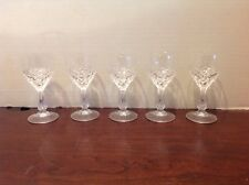Diamond Point Ribbed Crystal Stemmed Cordial Glas Lot Of 5