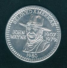 Rare John Wayne The Duke Tribute Silver Aluminum Doubloon Coin Token 1980