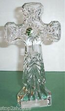 """Waterford KELLS Standing Cross Crystal Sculpture 9.5""""H Religious Giftware New"""