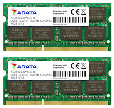 16GB AData DDR3 PC3-10666 1333MHz CL9 204-pin Dual Channel Laptop Memory 2x8GB