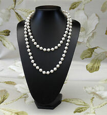 Classic Look Long Off White Faux Pearl Beads  Necklace Weddings  Brides New