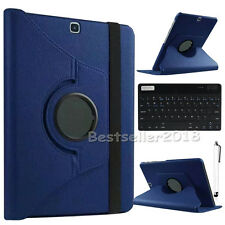 For Samsung Galaxy Tab A/E/S2/4/3 Bluetooth Keyboard +360° PU Leather Case Cover