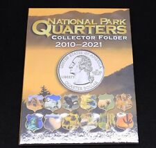 National Park Quarter Coin Collecting Album 2010-2021 Includes Historic Sites