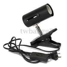 Black 300W Metal Ceramic Heat UV UVB Lamp Light Holder Clamp Brooder Reptile US