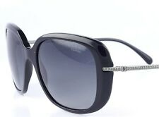 Chanel 5292-B 501 /S8 Black Polarized Sunglasses Authentic Designer Shades