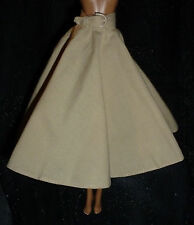 * BOTTOM ~ BARBIE DOLL MODEL MUSE TAN AUDREY HEPBURN SKIRT & BELT CLOTHING