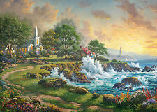 GIBSONS THOMAS KINKADE SEASIDE HAVEN 1000 PIECE JIGSAW PUZZLE PAINTER OF LIGHT