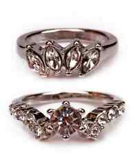 Super Shinning Forever 21 Diamante Ring 2 in a set for FRONT FINGER JOINT