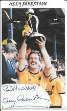 ALLY ROBERTSON - FOOTBALL LEAGUE TROPHY 1988 - WOLVES - AUTOGRAPH + PHOTO - COA