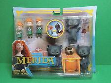 REBELLE - Merida : Blister pack Triplettes PVC figurine Set Disney Pixar Mattel