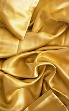 "100% mulberry silk charmeuse Queen Duvet Blanket cover 86x86"" in Gold 19 momme"