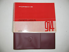 Porsche 914 factory original 1972 owners manual with repro cover last one!
