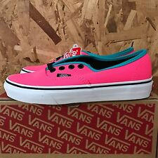 VANS AUTHENTIC BRITE NEON PINK BLACK SIZE 7 NEW IN BOX