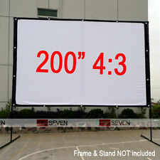 "200"" 4:3 Projection Screen for Outdoor Presentation School Movie 3D HD Projector"