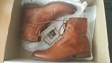 FRYE erin work lace up NIB boots shoes whiskey US 7
