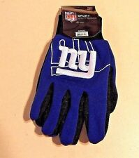 NEW YORK GIANTS NFL SPORT UTILITY GLOVES TEAM COLORS & EMBROIDERED LOGO NWT