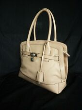 USED TWICE MODALU LONDON CREAM LOCK KEY  SHELL LINED GRAB CITY BAG PIPPA KATE