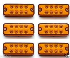 6 pcs 24V 8 LED Side Marker Orange Amber Lights for Truck Mercedes Ford Renault