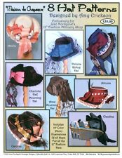 "Jean Nordquist's MAISON DE CHAPEAUX with 8 Hat Patterns for 12"" fashion dolls"