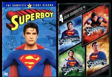 SUPERBOY 1st Season + SUPERMAN all 4 Christopher Reeve Movies