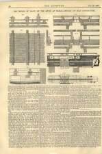 1867 Bridge Of Boats On The Rhine Maxau Details