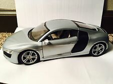 Maisto Audi R8 Silver 1:18 diecast Loose W/ Free Shipping