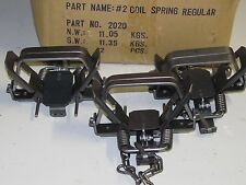 3 Bridger # 2 coilspring 2 Coil Spring Foothold Traps Coyote Fox Trapping