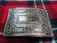 TC Men's Kilt Belt Buckle Celtic Swirl Antique/Scottish Kilt Buckle Celtic Swirl
