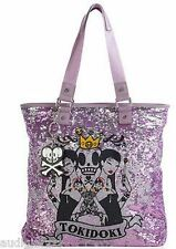 Tokidoki Salinas Fuchsia Sequin Tote Shopper Bag