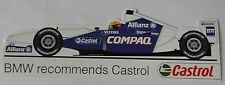 ADESIVI Williams BMW f1 CASTROL Sticker Autocollant FORMULA ONE M-Power