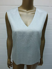 COUNTRY ROAD TANK BLOUSE CAMI SILVER METALLIC TOP TUNIC SHIRT SUIT FORMAL XS S