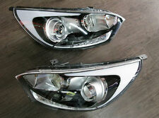 Projection LED Head Lamps Lights Assy Kit (Fit: KIA Pride RIO Hatchback 2011+)