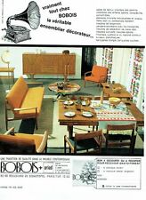 PUBLICITE ADVERTISING 037  1963   Bobois  meuble contemporain  salle à manger