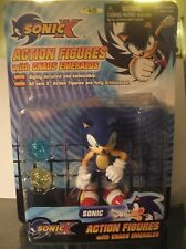 Sonic The Hedgehog Action Figure Sonic X With Chaos Emeralds Toy Island New