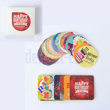 38pcs Happy birthday Seal Sticker Label  Party Birthday Party Favours Toppers DG