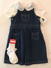 Girls WonderKids Denim Jumper Set - Size 5T