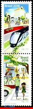 16-20 BRAZIL 2016 SUSTAINABLE MOBILITY, BIKE, TRAIN, HANDICAPPED,ENVIRONMENT,MNH