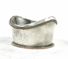 Antique Victorian Silver Plated Salt Cellar Clear Glass Liner c.1880