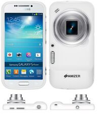 Amzer Exclusive Pudding Matte TPU Case Cover For Galaxy S4 Zoom SM-C1010 - White