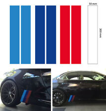 M skirt stripe grill BMW sport decal sticker vinyl 3 color 300x50 mm (2set)