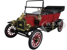 1915 FORD MODEL T ROADSTER CONVERTIBLE RED 1/18 CAR BY MOTORCITY CLASSICS 88141