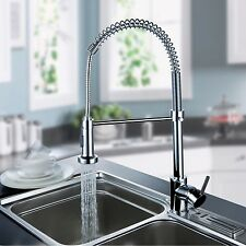 Kitchen Sink Chrome Single Handle Mixer Tap Swivel Pull Out Spray Faucet Sp