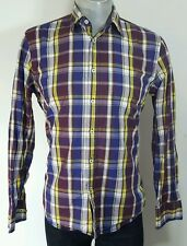 Marc O'Polo  mens vibrant plaid casual shirt Large fitted