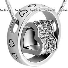 CHRISTMAS GIFTS FOR HER Heart & Ring Necklace Women Girls Girlfriend Mother K8
