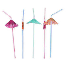 Multicolour Cocktail Party Straws with Umbrella (12 pack)