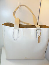NWT Coach F58660 Derby Tote In Pebble Leather -Chalk/Neutral