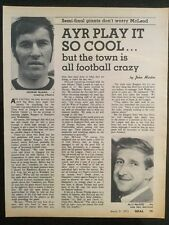 """*1973* A4 Football picture article AYR UTD """"Play It Cool Town Is Football Crazy"""""""