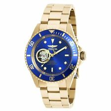 Invicta 20437 Gent's Automatic Blue Dial Yellow Gold Steel Watch